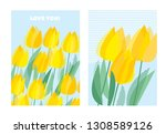 blue and yellow decorative... | Shutterstock .eps vector #1308589126