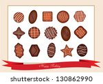 Box Of Chocolates Isolated On...
