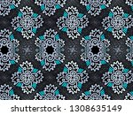 a hand drawing pattern made of...   Shutterstock . vector #1308635149