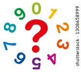 ten rainbow colored numbers ...   Shutterstock .eps vector #1308658999