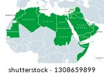 arab league political map.... | Shutterstock .eps vector #1308659899
