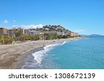 the beach at almunecar on the... | Shutterstock . vector #1308672139