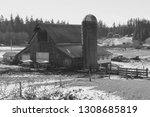 Barn And Silo With...