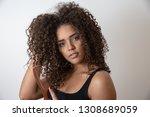 beauty portrait of african...   Shutterstock . vector #1308689059