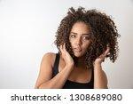 beauty portrait of african...   Shutterstock . vector #1308689080