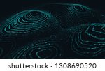 abstract polygonal space low... | Shutterstock . vector #1308690520