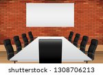 Chairs With Table In The Metin...