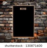 Empty Menu Board Hanging On...