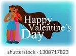 happy valentine's day  gift... | Shutterstock .eps vector #1308717823