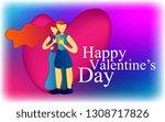 happy valentine's day  gift... | Shutterstock .eps vector #1308717826