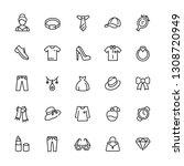 fashion  lifestyle icons set....
