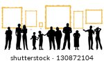 silhouettes of diverse people... | Shutterstock . vector #130872104