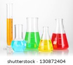 test tubes with colorful... | Shutterstock . vector #130872404