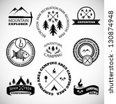 camping labels set. | Shutterstock .eps vector #130874948