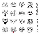 happy symbol emotions icons... | Shutterstock .eps vector #1308763303