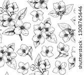 jasmine flowers. vector... | Shutterstock .eps vector #1308765646