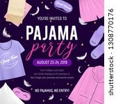 colored pajama party poster... | Shutterstock .eps vector #1308770176