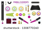 isolated and colored pinball... | Shutterstock .eps vector #1308770260