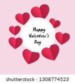 valentine's day background love ...   Shutterstock .eps vector #1308774523