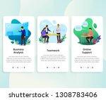 vector set of onboarding... | Shutterstock .eps vector #1308783406