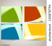 curvy abstract background. a... | Shutterstock .eps vector #130878794
