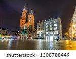 krakow  poland   october 8 ... | Shutterstock . vector #1308788449