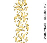 golden floral pattern.... | Shutterstock .eps vector #1308800419