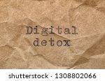 digital detox words printed on... | Shutterstock . vector #1308802066
