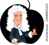 isaac newton vector caricature. ...   Shutterstock .eps vector #1308802423