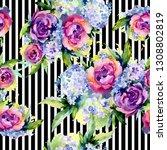 bouquets floral botanical...   Shutterstock . vector #1308802819