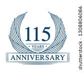115 years design template.... | Shutterstock .eps vector #1308806086