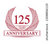 125 years design template.... | Shutterstock .eps vector #1308806110