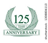 125 years design template.... | Shutterstock .eps vector #1308806113