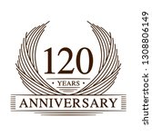 120 years design template.... | Shutterstock .eps vector #1308806149