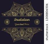 luxury ornamental mandala... | Shutterstock .eps vector #1308806506