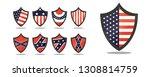 american flag badges | Shutterstock .eps vector #1308814759