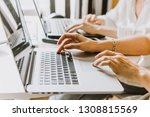 laptops  mobile phones and... | Shutterstock . vector #1308815569