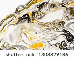 mixture of acrylic paints.... | Shutterstock . vector #1308829186