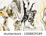 mixture of acrylic paints.... | Shutterstock . vector #1308829189