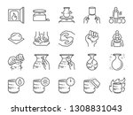 pottery line icon set. included ... | Shutterstock .eps vector #1308831043
