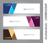 vector abstract web banner... | Shutterstock .eps vector #1308832069