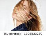 facial hair woman              ... | Shutterstock . vector #1308833290