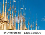 shwe indein pagoda with rows of ... | Shutterstock . vector #1308835009