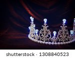 photo of gold crown over gothic ... | Shutterstock . vector #1308840523