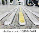 tactile paving for blind... | Shutterstock . vector #1308840673