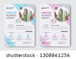 corporate business flyer poster ... | Shutterstock .eps vector #1308861256