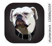 american bulldog vector image | Shutterstock .eps vector #1308863359