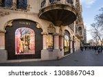 barcelona  spain. february 2019 ... | Shutterstock . vector #1308867043