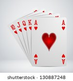 royal flush playing cards | Shutterstock .eps vector #130887248