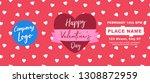 valentines day marketing banner ... | Shutterstock .eps vector #1308872959